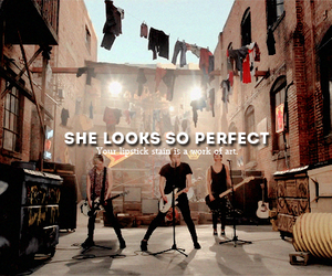 5sos and she looks so perfect image