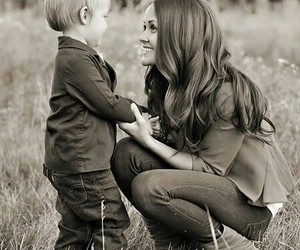 happiness, moments, and mother and son image