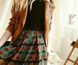 fall fashion and skirt image