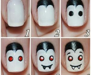 nails, Halloween, and vampire image