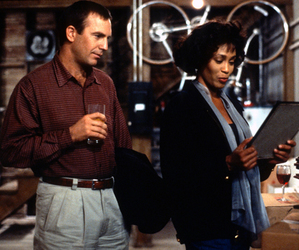 whitney houston, the bodyguard, and kevin costner image