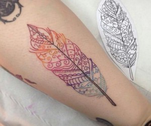 tattoo and feather image