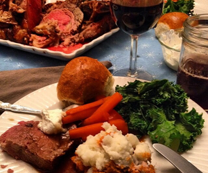 beef, christmas, and dinner image