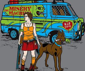 mystery machine, scooby doo, and velma image