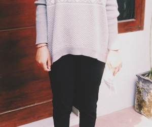 black, grey, and sweater image