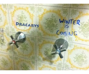 hbo, shower, and winter is coming image