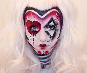 goth, queen of hearts, and Halloween image