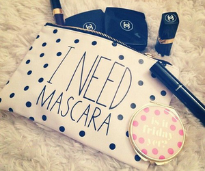 mascara, chanel, and make up image