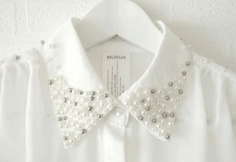 fashion, white, and pearls image