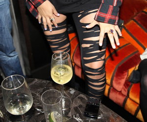 fashion, drink, and party image