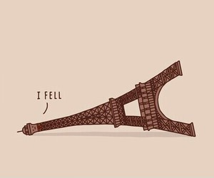 paris, funny, and eiffel image