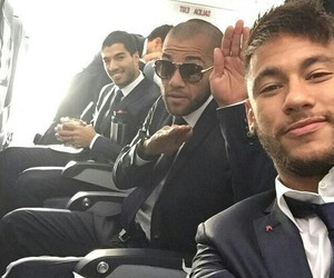 neymar, Barcelona, and suarez image