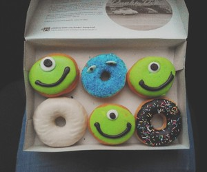 cookie monster, donut, and food image