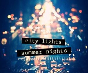 night, city, and lights image