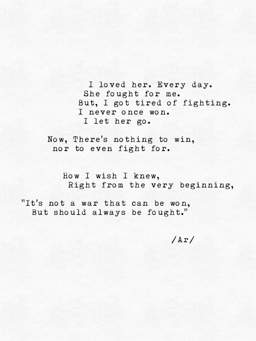 Fight For Her Shared By Rai On We Heart It