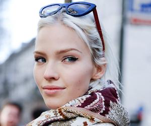 model, blonde, and sasha luss image