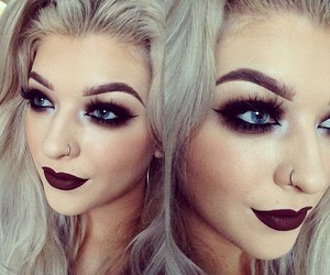 beauty, dark lips, and make up image