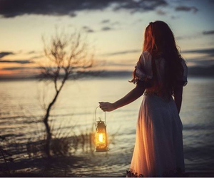girl, lamp, and photography image