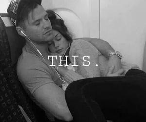 couple, traveling, and cuddle image