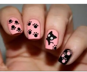 cat, kitty, and nail art image