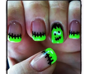 nails, Halloween, and green image