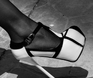 black & white and high heels image