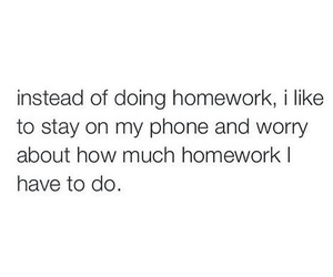 homework, phone, and school image