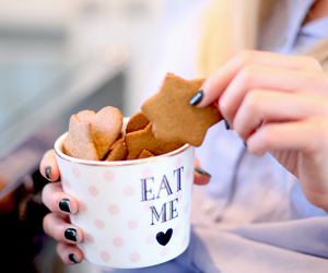 Cookies, winter, and eat me image