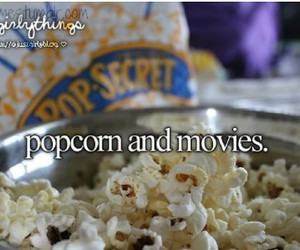 popcorn, movies, and justgirlythings image