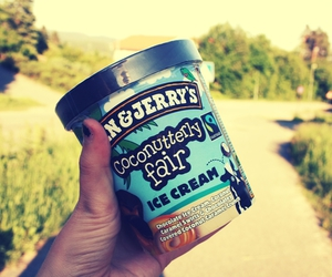 ice cream, ben&jerrys, and summer image