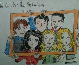 cartoon, chandler bing, and Courteney Cox image
