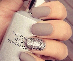 silver, acrylic nails, and matte image