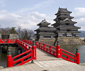 asian, castle, and honshu image