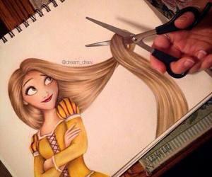 disney, drawing, and hair image