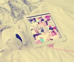 ipad, music, and white image