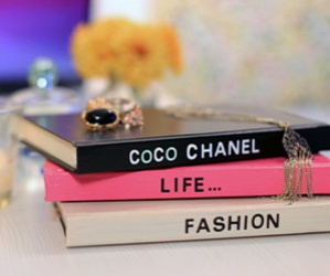 books, coco chanel, and decoration image