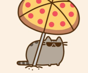 cat, pizza, and pusheen image