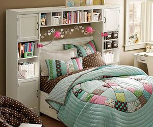 bed, books, and girly image