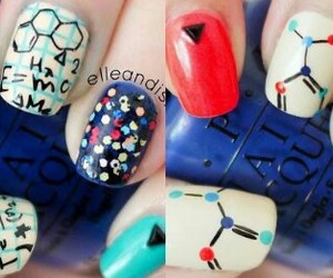 chemistry, nail art, and nail polish image