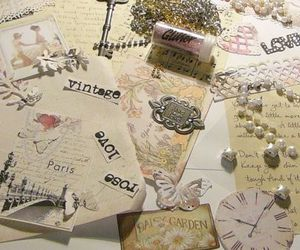 glitter, Paper, and vintage image