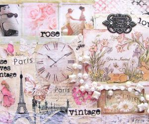 vintage, paris, and rose image