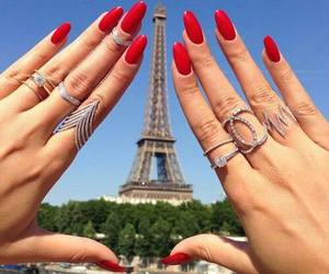 nails, paris, and red image