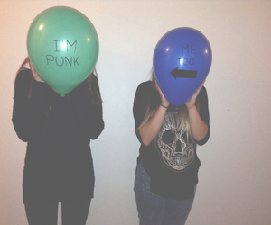 punk, balloons, and grunge image