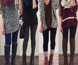 boots, fall outfit, and clothes image
