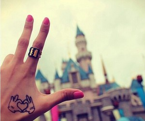 disney, tattoo, and disneyland image