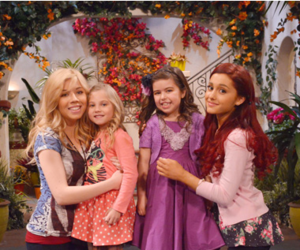 cat, ariana, and victorious image
