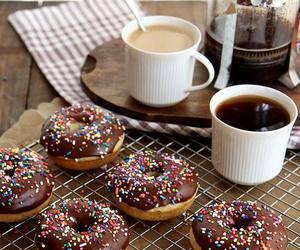 donuts, coffee, and chocolate image
