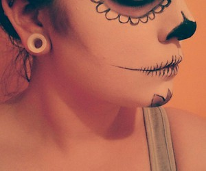Halloween, makeup, and piercing image