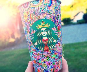 starbucks, coffee, and art image