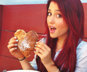 ariana grande, heart, and pancakes image